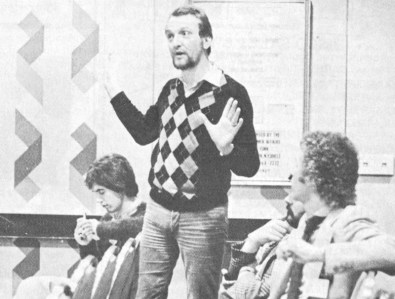 Chris Hill speaks out at New Music Seminar NYC 1979