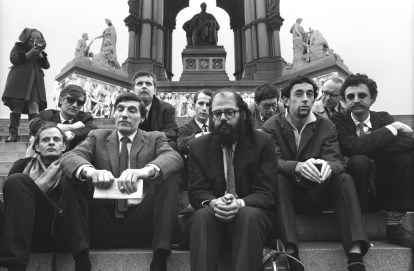Poets on Steps of Albert Memorial 1965