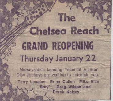 chelsea reach grand reopening 1976