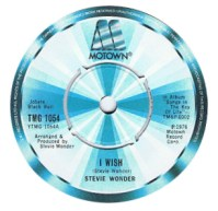 Stevie Wonder 'I Wish' label
