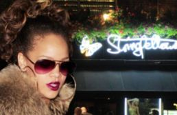 Rihanna leaving Stringfellows fully nude gentleman's club in London at around 1:30am.