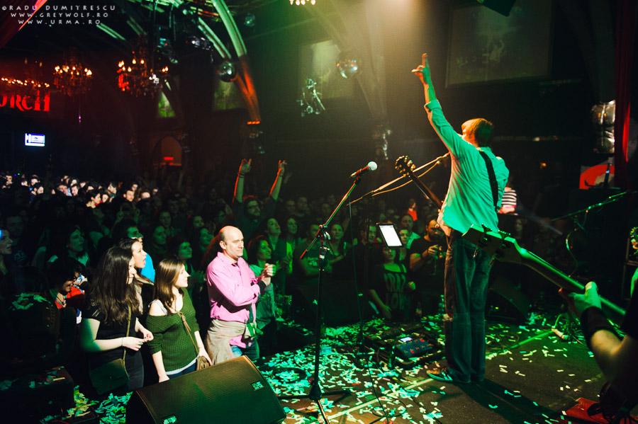 Fotografie din concertul aniversar de 10 ani al trupei Urma - Silver Church, București.