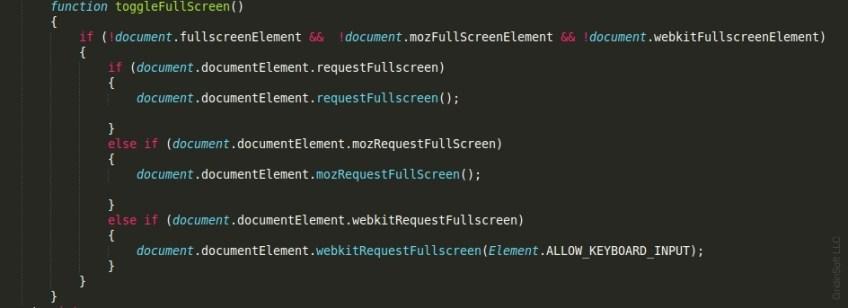 Toggle the full-screen mode