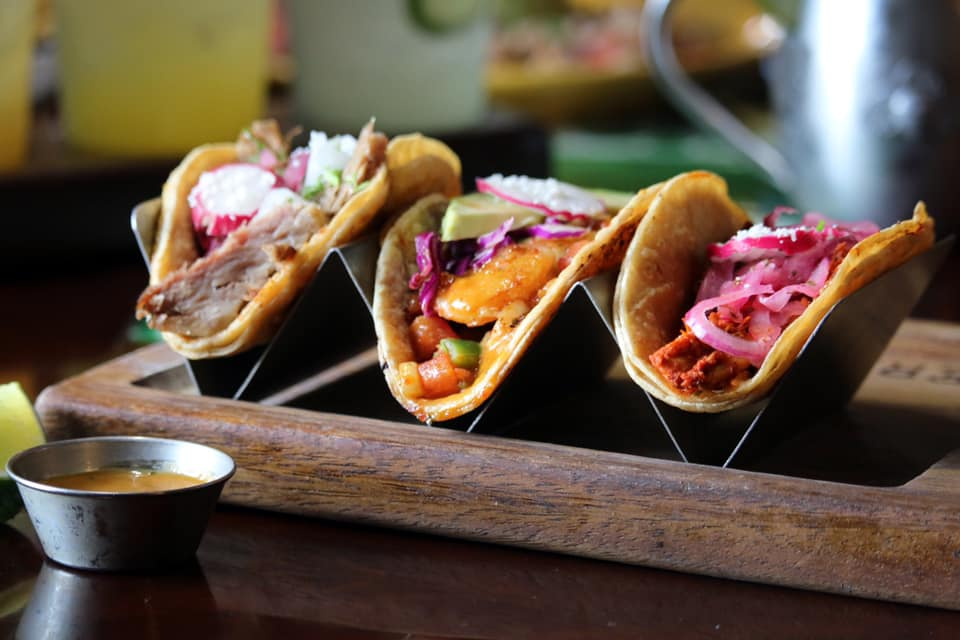 Three tasty tacos at Verde Flavors of Mexico