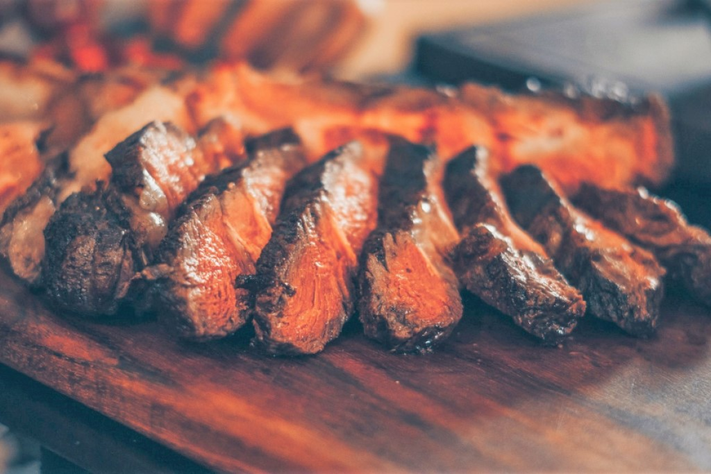 Slices of juicy beef at a Dickey's Barbecue Pit fundraising event