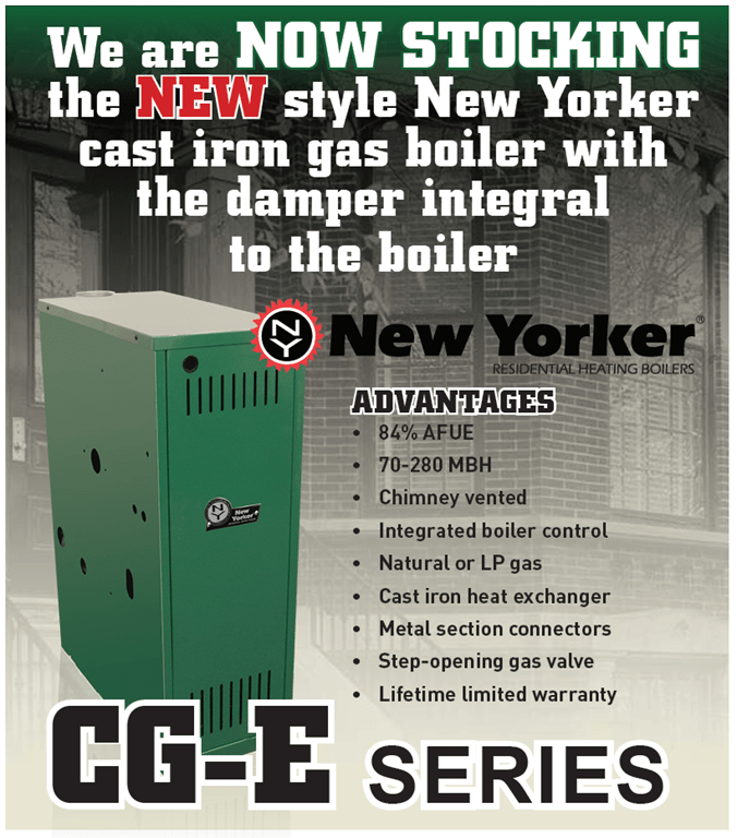 We are NOW STOCKING the NEW style New Yorker cast iron gas boiler ...