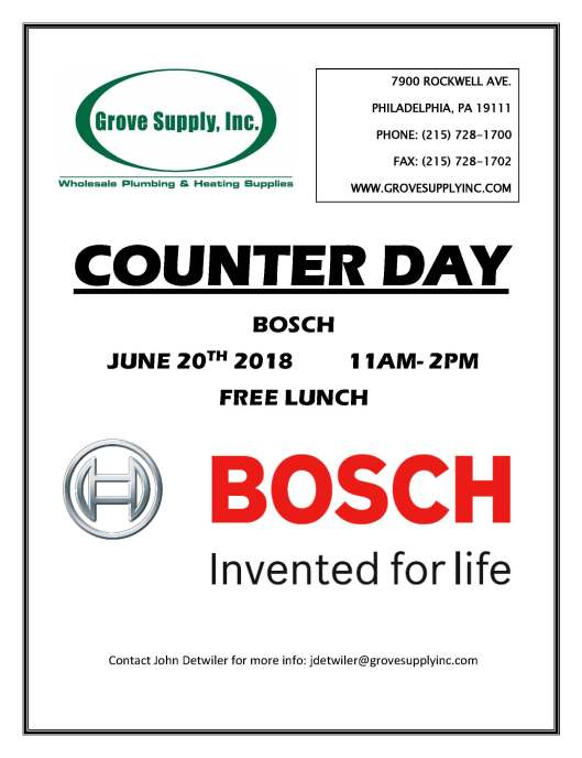 Counter Day Bosch June 20 2018