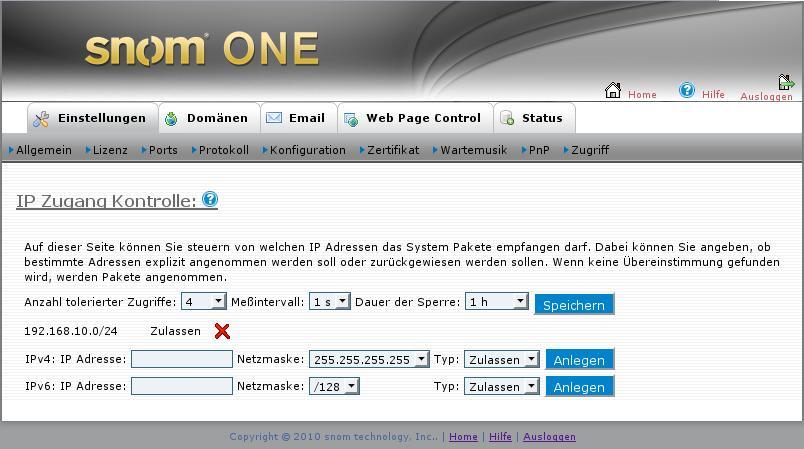 Snom One – Webinterface läuft nicht mehr