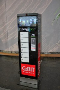 Cebit 2014 – Energy Box – gratis Ladestation für Mobilgeräte