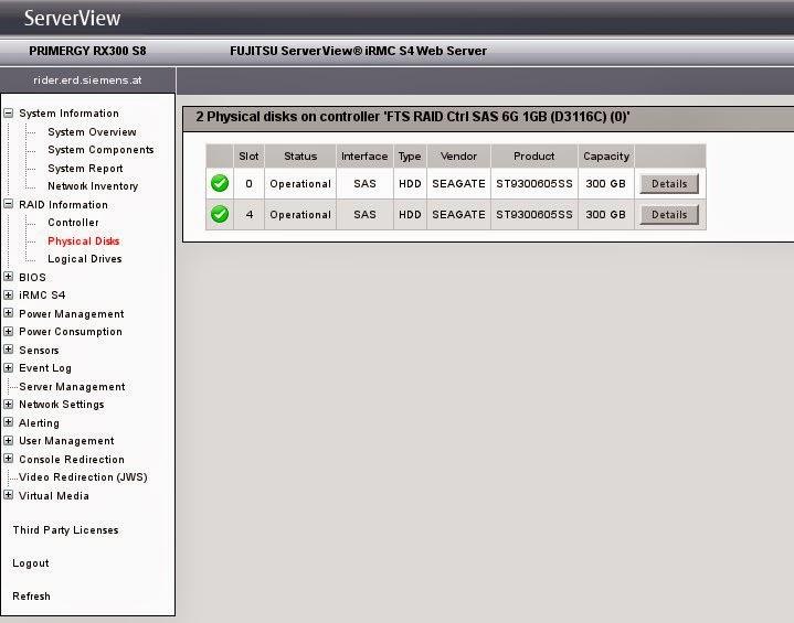 Fujitsu IRMC S4 Webseite per Script abfragen