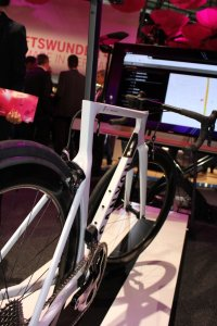 Connected Bike am Telekom Stand