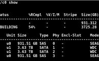 3-Ware 9750-4i RAID 1 - Plattentausch und Filesystem auf 4 TB vergrößern