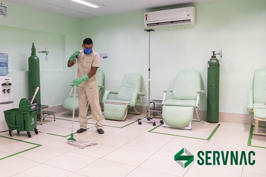 Limpeza de hospitais
