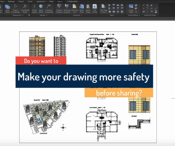 How to use GstarCAD Express Tool: Drawing Lock