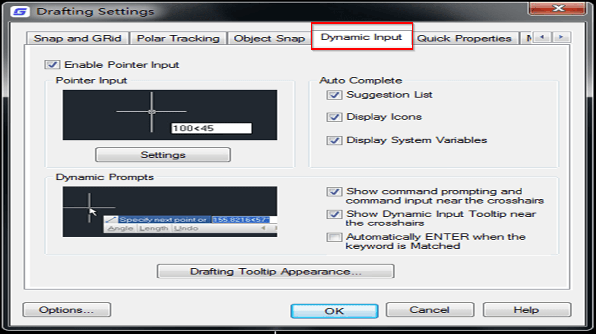 What's the difference between dynamic input and command line input of coordinates in CAD?