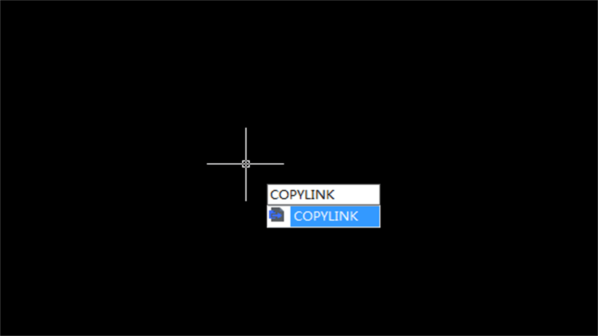 What's the function of COPYLINK Command?