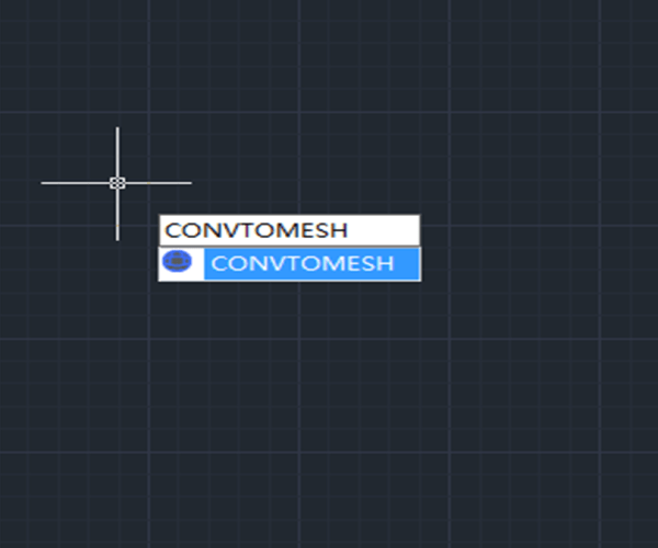 New 3D functionality in GstarCAD 2021: CONVTOMESH