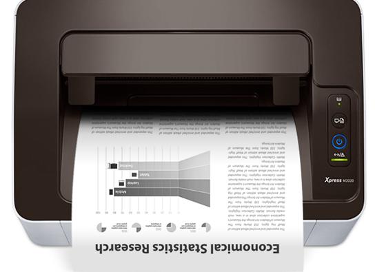 Relatório de páginas impressas Samsung M2020