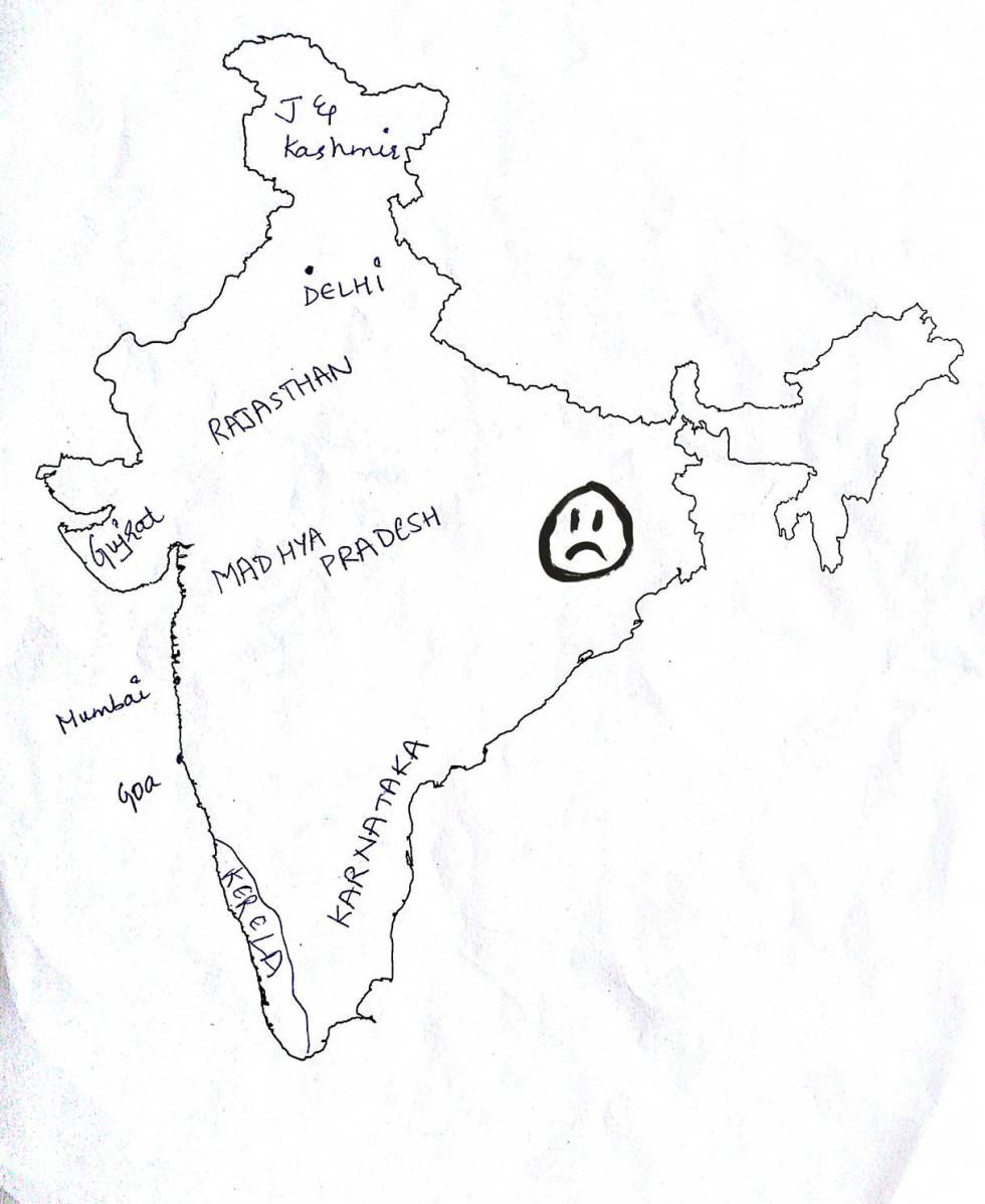 funny maps, funny India map