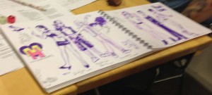 Artists depiction of the player characters. By Wille Ruotsalainen (sorry about the blurriness, didn't have a good camera on me). My witch is on the left.