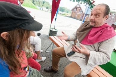 There were quite a few illusionists at the Faire but this one was my son's favorite.