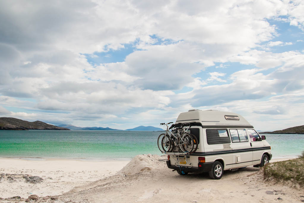 Campervan and bikes Australian beach travel