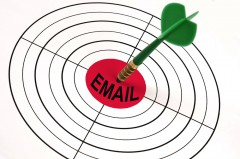 """""""Email"""" as a bulls-eye to a target"""