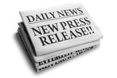 """News papers with the front cover daily news titled """"New Press Release!!"""""""
