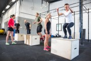 Crossfit Group Train Box Jumps