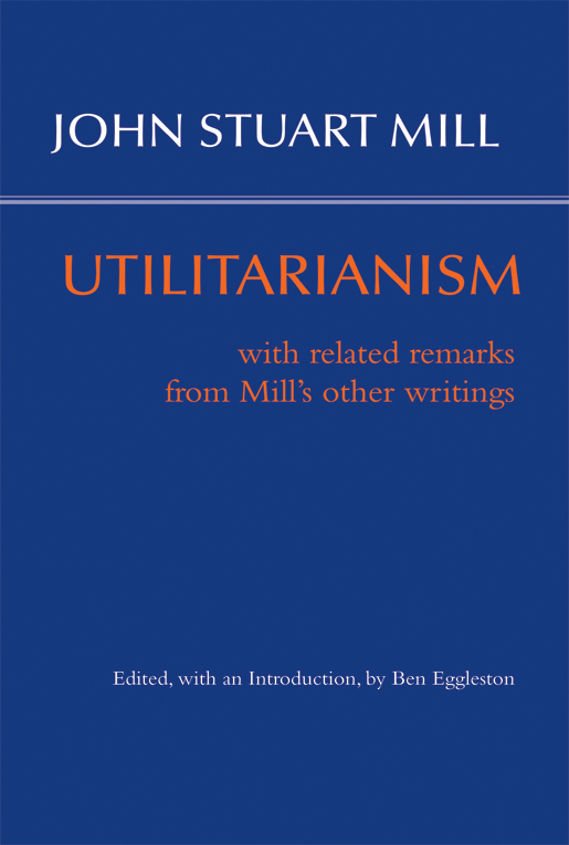 Mill Utilitarianism cover iamge