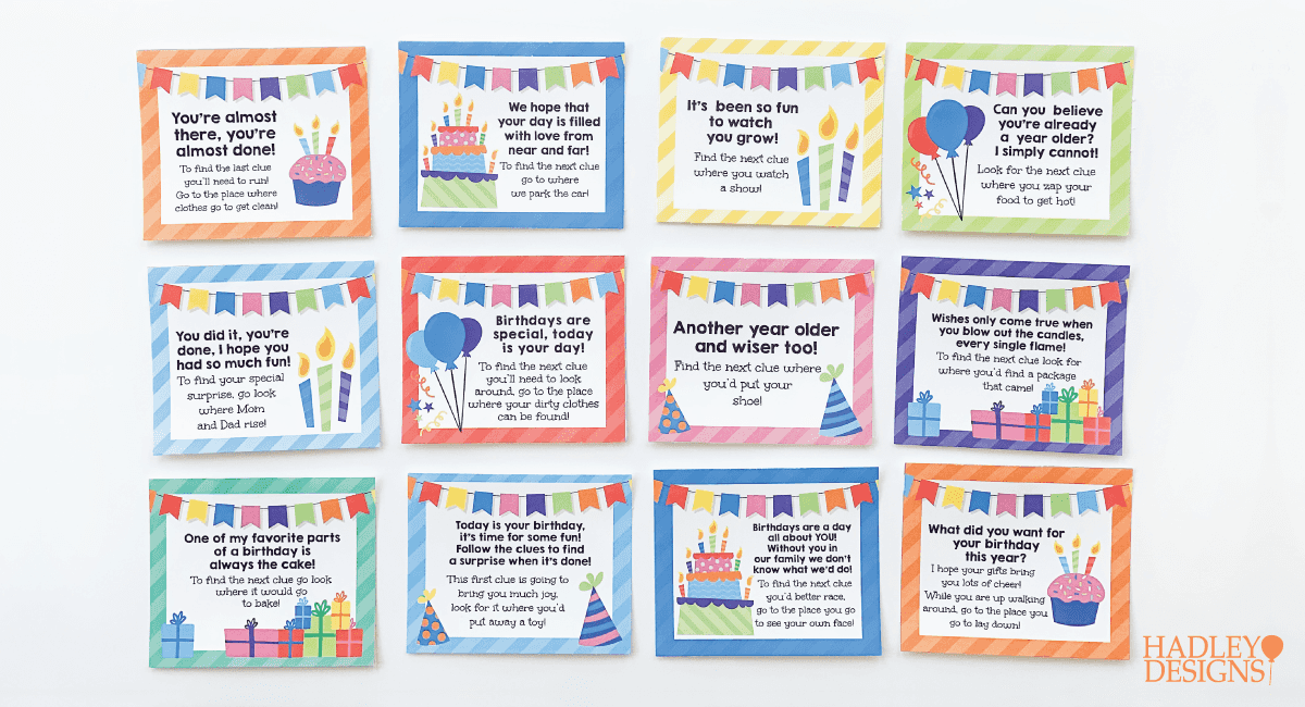 3 Steps To A Birthday Scavenger Hunt At Home Hadley Designs Party Blog