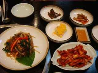 韓国料理のランチ