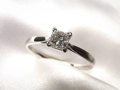 プリンセスカットのダイヤモンドリングフルオーダーリフォーム【神戸 元町】