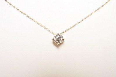 k18YG製 0.45ct ダイヤモンドペンダントのご注文【神戸 元町】