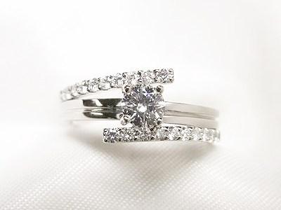 古いデザインのご婚約指輪をエレガントリングへリフォーム【神戸 元町】