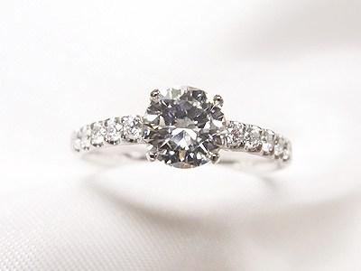 0.7ctUPのダイヤモンドをしっかりキラキラリングへリフォーム【神戸 元町】