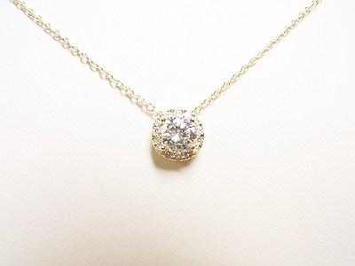 0.4ctダイヤを大きくキラキラなペンダントにリフォーム【神戸 元町】