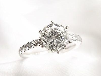立爪1カラットダイヤモンドを華奢なキラキラリングへリフォーム【神戸 元町】