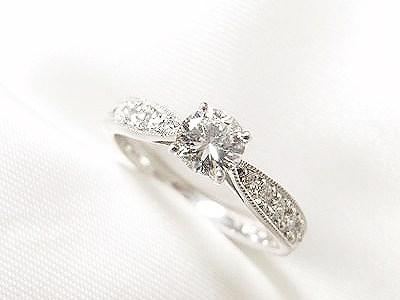 ご家族の0.3ctUPダイヤモンドをエンゲージリングにリフォーム【神戸 元町】