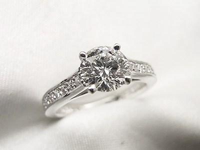 ご結婚20周年記念に0.749ctエンゲージリングリフォーム【神戸 元町】