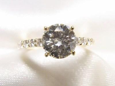 1ctUPダイヤモンドリングをかわいいk18イエローゴールド製へリフォーム【神戸 元町】