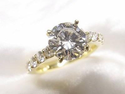 1ctUPのダイヤモンドをK18太めのエタニティ風リングへリフォーム【神戸 元町】