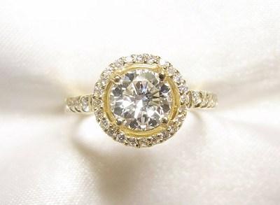 1ctUPダイヤモンドをK18メレダイヤ取巻きリングへリフォーム【神戸 元町】