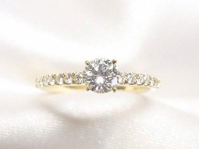 高級ブランド製ダイヤモンドリングをK18エタニティ風リングへリフォーム【神戸 元町】