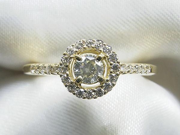 0.2ctダイヤモンドをかわいいK18製リングへリフォーム【神戸 元町】
