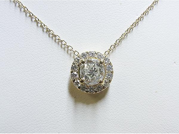1ctダイヤをメレダイヤ取り巻きペンダントへ&真珠ステーションネックレスへリフォーム【神戸 元町】