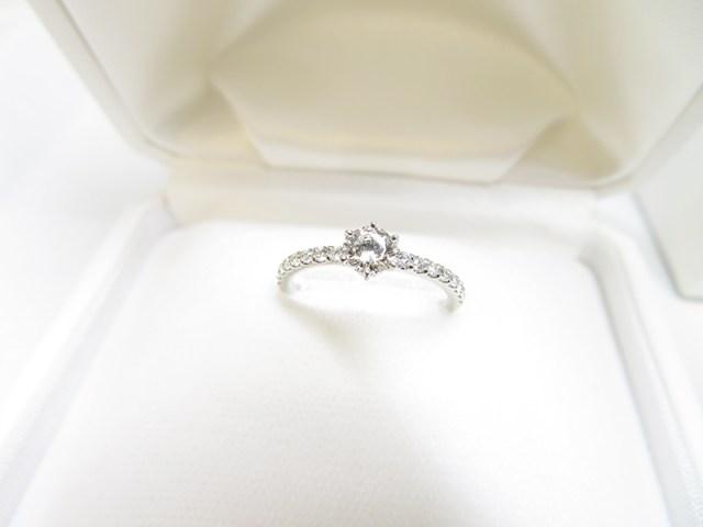 ご自分のダイヤを彼女へ贈るエンゲージリングへリフォーム【神戸 元町】