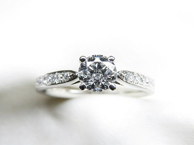 清楚でカジュアルな0.3ctご婚約指輪ご注文【神戸 元町】