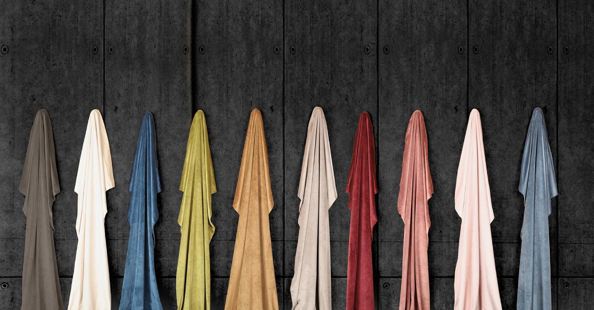 solid color velvet curtains hanging