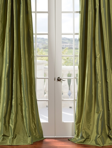 Add some luxury to your home with silk drapes